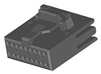 MH937 1.27mm Double Row Polarized & Locking Housing
